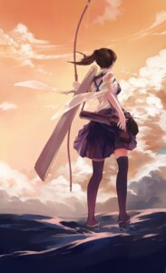 Rating: Safe Score: 42 Tags: bzerox kaga_(kancolle) kantai_collection thighhighs weapon User: Mr_GT