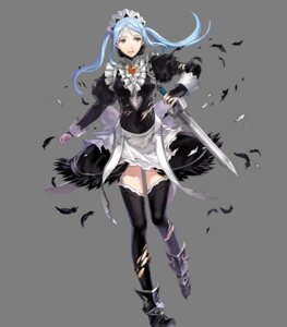 Rating: Questionable Score: 10 Tags: armor fire_emblem fire_emblem_heroes fire_emblem_if flora_(fire_emblem) hako heels maid nintendo sword thighhighs torn_clothes transparent_png User: Radioactive