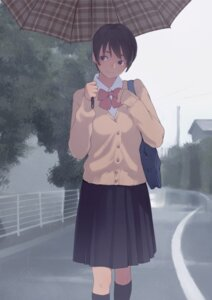 Rating: Safe Score: 34 Tags: kamo seifuku sweater umbrella User: syuki144