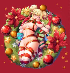Rating: Questionable Score: 13 Tags: christmas naked_ribbon thighhighs y.i._(lave2217) User: Mr_GT