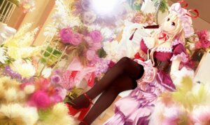 Rating: Safe Score: 48 Tags: cleavage dress heels thighhighs touhou xuan_jing yakumo_yukari User: Mr_GT