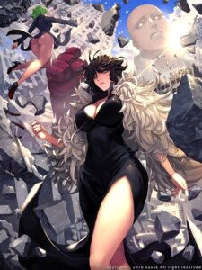 Rating: Questionable Score: 41 Tags: ass cleavage dress fubuki_(one_punch_man) heels nopan one_punch_man saitama tatsumaki_(one_punch_man) xaxak User: Mr_GT