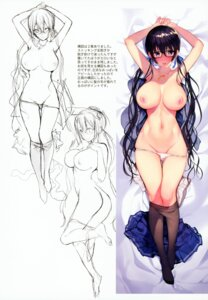 Rating: Questionable Score: 91 Tags: ass dakimakura matarou megane nipples pantsu panty_pull pantyhose sketch topless User: kiyoe