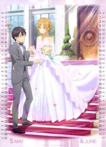 Rating: Safe Score: 61 Tags: asuna_(sword_art_online) calendar dress kirito sword_art_online tagme wedding_dress User: drop