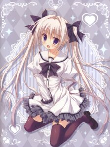 Rating: Safe Score: 71 Tags: dress ryohka stockings suzuya thighhighs User: batinthebelfry