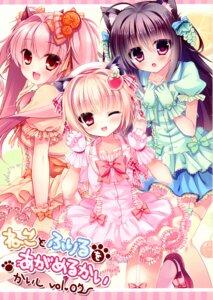 Rating: Questionable Score: 20 Tags: animal_ears dress mizuki_yuuma nekomimi pantsu possible_duplicate rubi-sama stockings tagme thighhighs wreathlit69 User: kiyoe