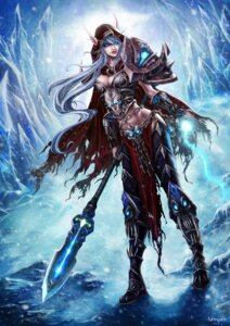 Rating: Safe Score: 37 Tags: armor cleavage elf pointy_ears weapon world_of_warcraft User: Rignak
