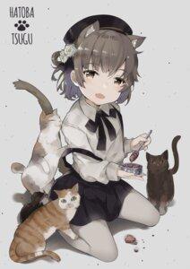 Rating: Safe Score: 34 Tags: animal_ears duji_amo hatoba_tsugu hatoba_tsugu_(character) neko nekomimi pantyhose tail User: Mr_GT