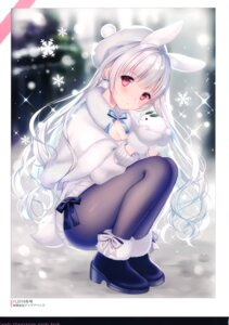 Rating: Questionable Score: 66 Tags: animal_ears bunny_ears pantyhose sweater w.label wasabi_(artist) User: kiyoe