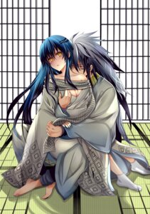Rating: Questionable Score: 9 Tags: cleavage katanainu kimono nurarihyon_no_mago nura_rikuo yuki_onna_(nurarihyon_no_mago) User: charunetra