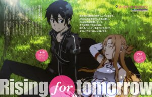 Rating: Safe Score: 18 Tags: asuna_(sword_art_online) kirito sword_art_online yoshino_shin'ichi User: PPV10