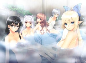 Rating: Questionable Score: 87 Tags: censored elf excela_noa_aura heterochromia kirika_towa_alma marion_le_sheila naked onsen overfiltered pointy_ears rinna_mayfield sega shining_resonance shining_world sonia_branche tony_taka towel User: Radioactive