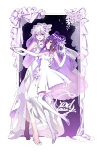 Rating: Questionable Score: 18 Tags: dress godlailer heels luo_tianyi thighhighs vocaloid wedding_dress yuri User: sym455