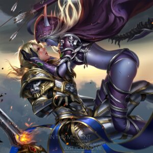 Rating: Safe Score: 28 Tags: anduin_wrynn armor ass bikini_armor blood elf horns liang_xing pointy_ears sword sylvanas_windrunner thighhighs watermark weapon world_of_warcraft User: mash