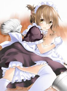 Rating: Questionable Score: 54 Tags: inazuma_(kancolle) kantai_collection maid napou1031 pantsu thighhighs User: fairyren