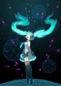 Rating: Safe Score: 25 Tags: btoor hatsune_miku headphones thighhighs vocaloid User: Mr_GT