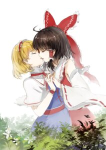 Rating: Safe Score: 18 Tags: alice_margatroid hakurei_reimu nanairono_kaigashi touhou yuri User: Radioactive