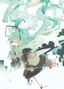 Rating: Safe Score: 26 Tags: hatsune_miku headphones heels saihate thighhighs vocaloid User: Humanpinka