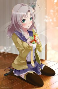 Rating: Safe Score: 55 Tags: heels kantai_collection kazuki_(kaduki_kan) kinugasa_(kancolle) seifuku sweater thighhighs valentine User: Mr_GT