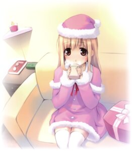Rating: Safe Score: 25 Tags: christmas noantica ooji thighhighs User: midzki