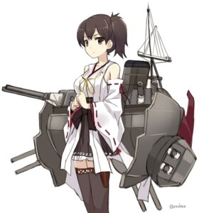 Rating: Safe Score: 34 Tags: kaga_(kancolle) kantai_collection ordan thighhighs User: fairyren