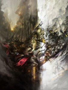 Rating: Safe Score: 19 Tags: armor final_fantasy final_fantasy_xiv landscape square_enix sword weapon User: Radioactive