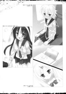 Rating: Safe Score: 10 Tags: cleavage hidan_no_aria kobuichi monochrome seifuku User: Twinsenzw