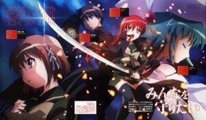 Rating: Safe Score: 6 Tags: hasegawa_shinya hecate sakai_yuuji seifuku shakugan_no_shana shana sword thighhighs yoshida_kazumi User: vita