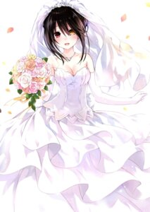 Rating: Safe Score: 128 Tags: cleavage date_a_live dress heterochromia tokisaki_kurumi tsunako wedding_dress User: kiyoe