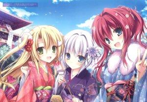 Rating: Safe Score: 89 Tags: asukai_hiiro feng karomix karory kimono onbara_ren tokino_kumo yume_to_iro_de_dekiteiru User: Twinsenzw