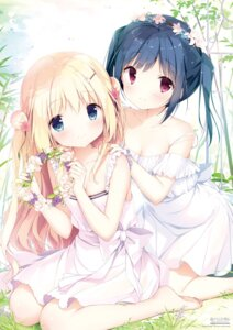 Rating: Safe Score: 153 Tags: cleavage digital_version dress koi_kakeru_shin-ai_kanojo komari_yui kunimi_nako no_bra see_through shiratama summer_dress us:track User: Twinsenzw