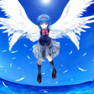 Rating: Safe Score: 7 Tags: little_busters! moonknives nishizono_mio seifuku wings User: Feito