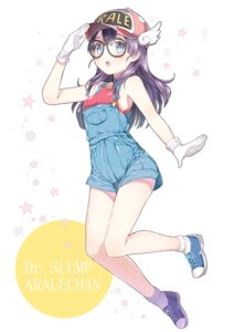 Rating: Safe Score: 53 Tags: chitetan dr._slump megane norimaki_arale overalls User: mash