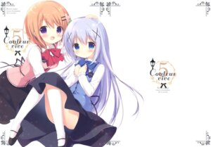 Rating: Safe Score: 45 Tags: brown_sugar gochuumon_wa_usagi_desu_ka? hoto_cocoa kafuu_chino miyasaka_nako nopan waitress User: Twinsenzw