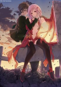 Rating: Safe Score: 65 Tags: caidychen guilty_crown ouma_shuu yuzuriha_inori User: fairyren