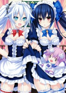 Rating: Safe Score: 63 Tags: black_heart choujigen_game_neptune cleavage maid neptune noire stockings thighhighs tsunako User: Radioactive
