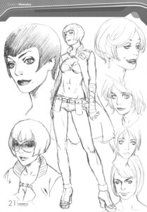 Rating: Safe Score: 6 Tags: character_design momoko_(shangri-la) monochrome range_murata shangri-la sketch trap User: Share
