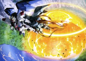 Rating: Safe Score: 10 Tags: freedom_gundam gun gundam gundam_seed mecha ueda_youichi weapon wings User: drop