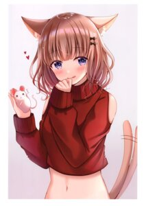 Rating: Safe Score: 39 Tags: animal_ears hiyoko_sabure nekomimi sakura_hiyori sweater tail User: kiyoe