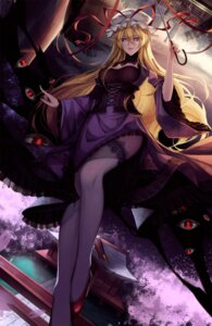 Rating: Safe Score: 55 Tags: heels red-d thighhighs touhou umbrella yakumo_yukari User: Mr_GT