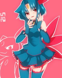 Rating: Safe Score: 28 Tags: anthropomorphization dress pokemon sneasel stockings takeshima_(nia) thighhighs wings User: charunetra