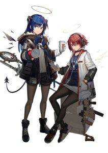 Rating: Safe Score: 26 Tags: arknights exusiai_(arknights) gun hamachi_hazuki headphones horns mostima_(arknights) pantyhose tail weapon User: Dreista