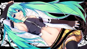 Rating: Safe Score: 74 Tags: chiri_(atlanta) hatsune_miku headphones thighhighs vocaloid wallpaper User: 椎名深夏
