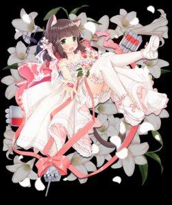 Rating: Safe Score: 35 Tags: animal_ears azur_lane bloomers dress heels ifnil mutsuki_(azur_lane) thighhighs weapon wedding_dress User: Mr_GT