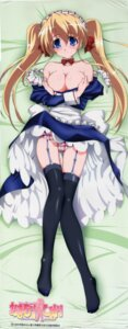 Rating: Questionable Score: 67 Tags: breast_hold breasts cleavage dakimakura dress garter_belt isono_satoshi jpeg_fix lizlet_l_chelsie maid no_bra omamori_himari pantsu skirt_lift stockings thighhighs User: Onpu
