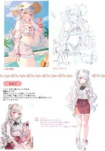 Rating: Safe Score: 19 Tags: bikini garter momoko_(momopoco) sashimi_necoya sketch swimsuits User: Arsy
