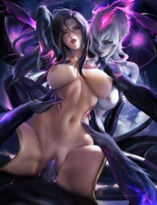 Rating: Explicit Score: 107 Tags: evelynn futanari kai'sa league_of_legends naked nipples penis pussy sakimichan sex thighhighs uncensored User: drefea
