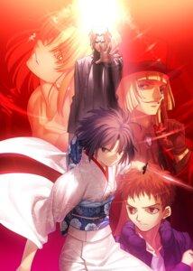 Rating: Safe Score: 21 Tags: araya_souren cornelius_alba enjou_tomoe kara_no_kyoukai kimono ryougi_shiki shirazumi_lio sword takeuchi_takashi type-moon User: demonbane1349