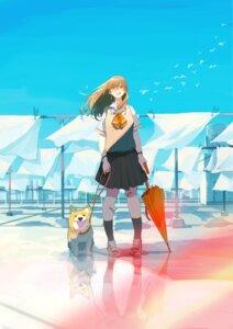 Rating: Safe Score: 19 Tags: akira_(mr_akira) bandaid megane seifuku umbrella User: saemonnokami