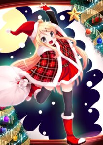 Rating: Safe Score: 16 Tags: bassa christmas dress kin'iro_mosaic kujou_karen thighhighs User: Mr_GT